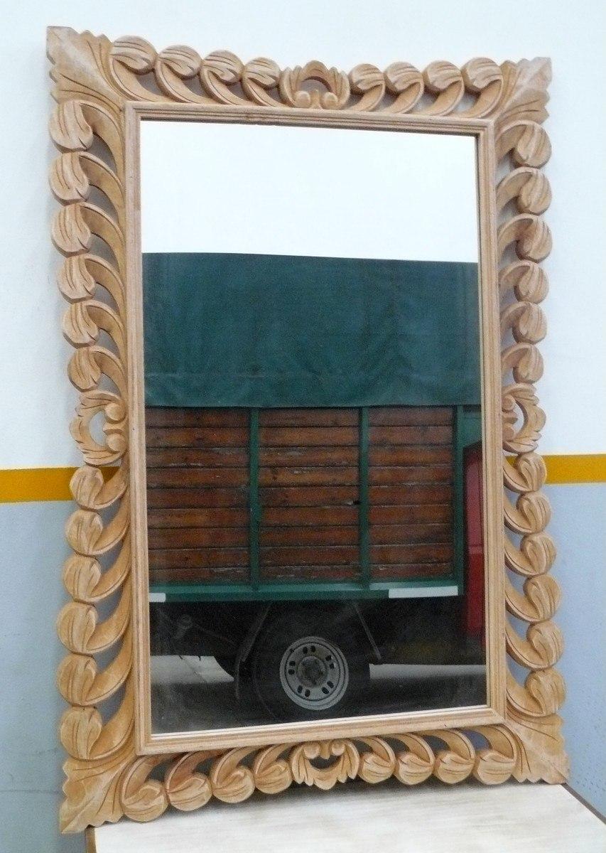 Marcos de madera para espejos marco tallado de madera marco para espejo en madera decora un - Marcos de madera ...