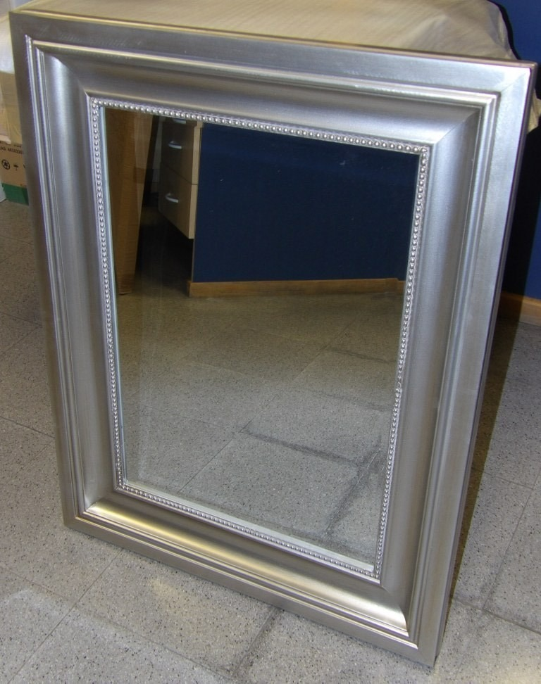 Espejo Marco Plateado Hermosos Diseos De Casas Phusanet