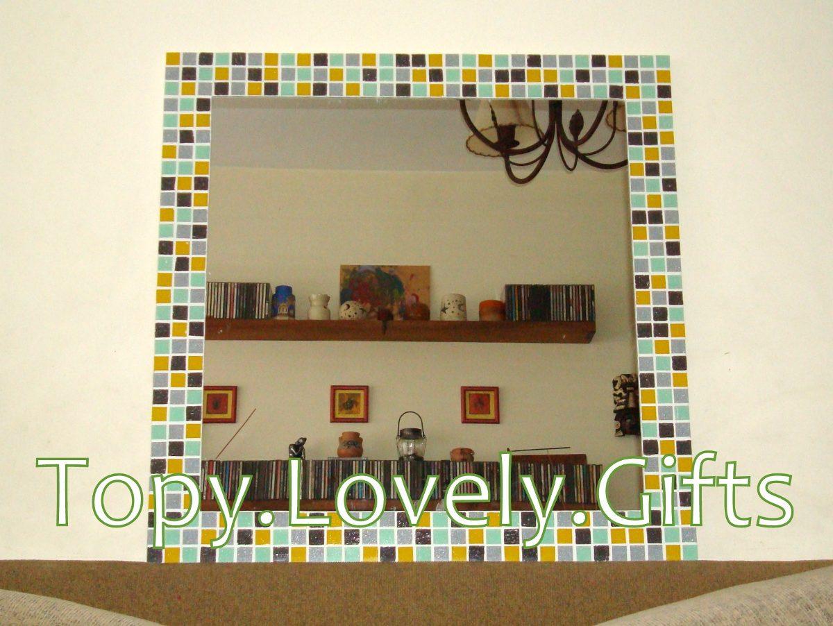 Espejo Con Marco De Venecitas 60 X 40 Cm - $ 850,00 en Mercado Libre