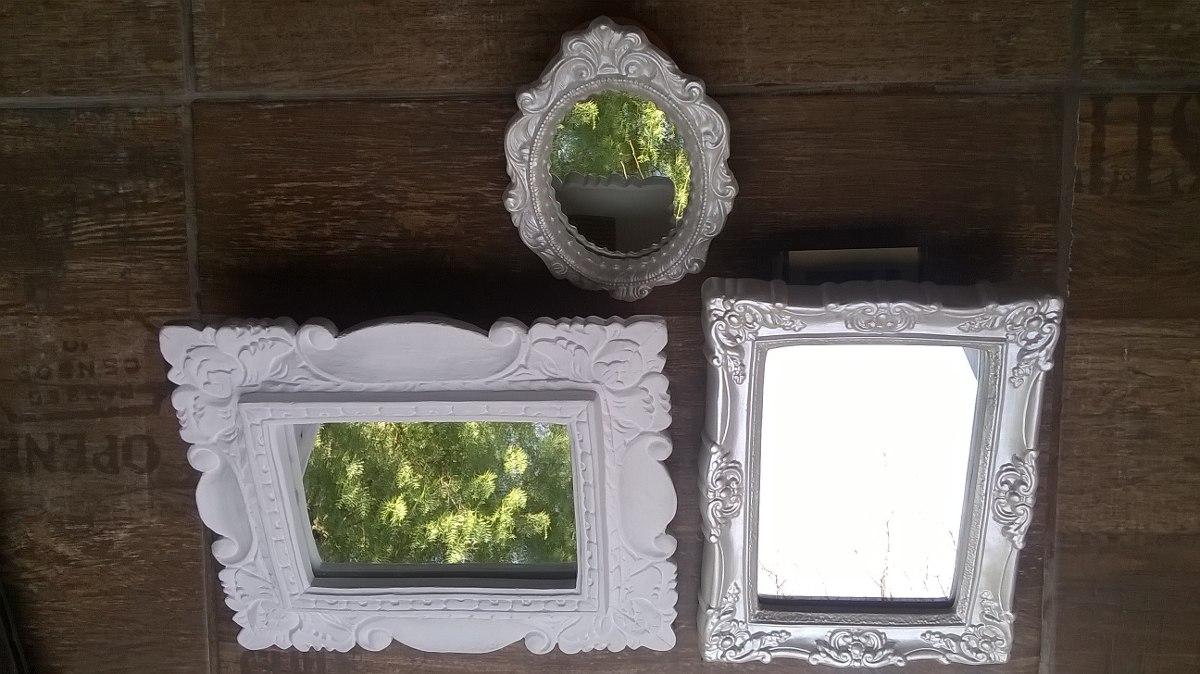 Espejo con marco de yeso estilo vintage 210 00 en for Precio de espejos con marco
