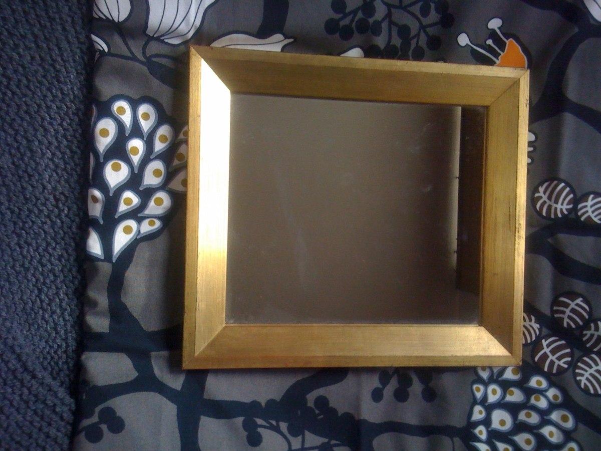 Espejo con marco dorado envejecido en mercado libre for Espejo marco dorado