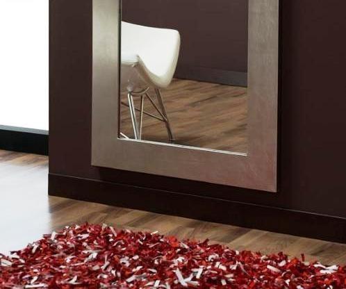 espejo con marco en hoja de oroplata de x x de vista