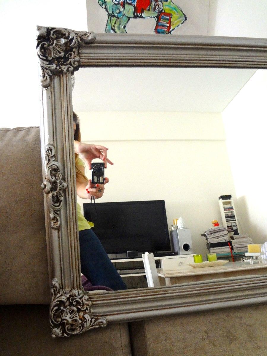 Espejos con marco plateado espejo marco rel blanco xx uac for Espejo de pie plateado