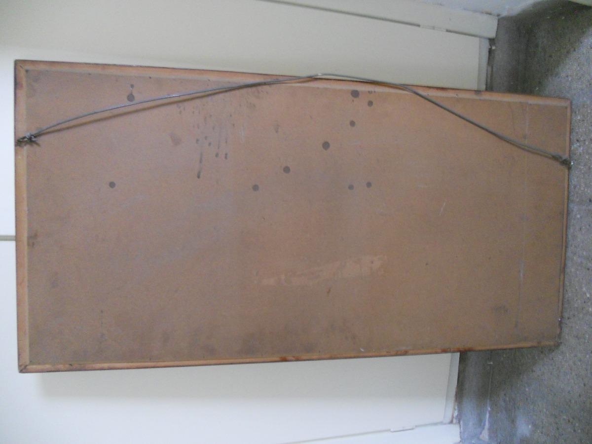 Espejo con marco madera buen estado mide 101cm por 50 for Espejo 50 cm ancho