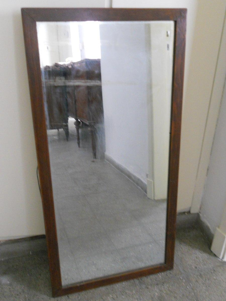 Espejo Con Marco Madera Buen Estado Mide 101cm Por 50