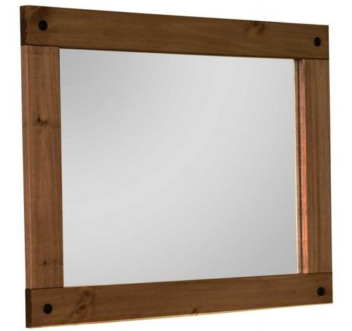 espejo con marco madera mexicana, living kapan muebles