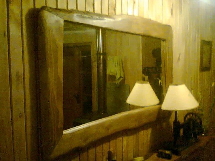 Espejo con marco rustico 100 artesanal madera natural for Donde venden espejos