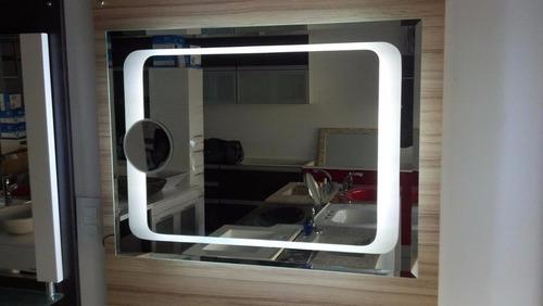 espejo con repisa de 40 x 60 cm burbuja arenada estilo acqua