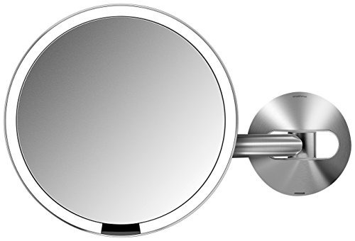 espejo con sensor iluminado simplehuman con soporte