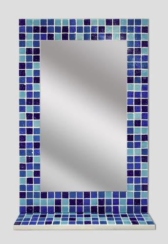 espejo con venecitas 60x40cm+estante / baño, living, comedor