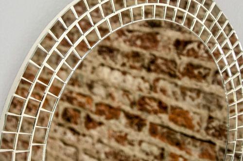 espejo con venecitas redondo 50cmø / baño, living, comedor,