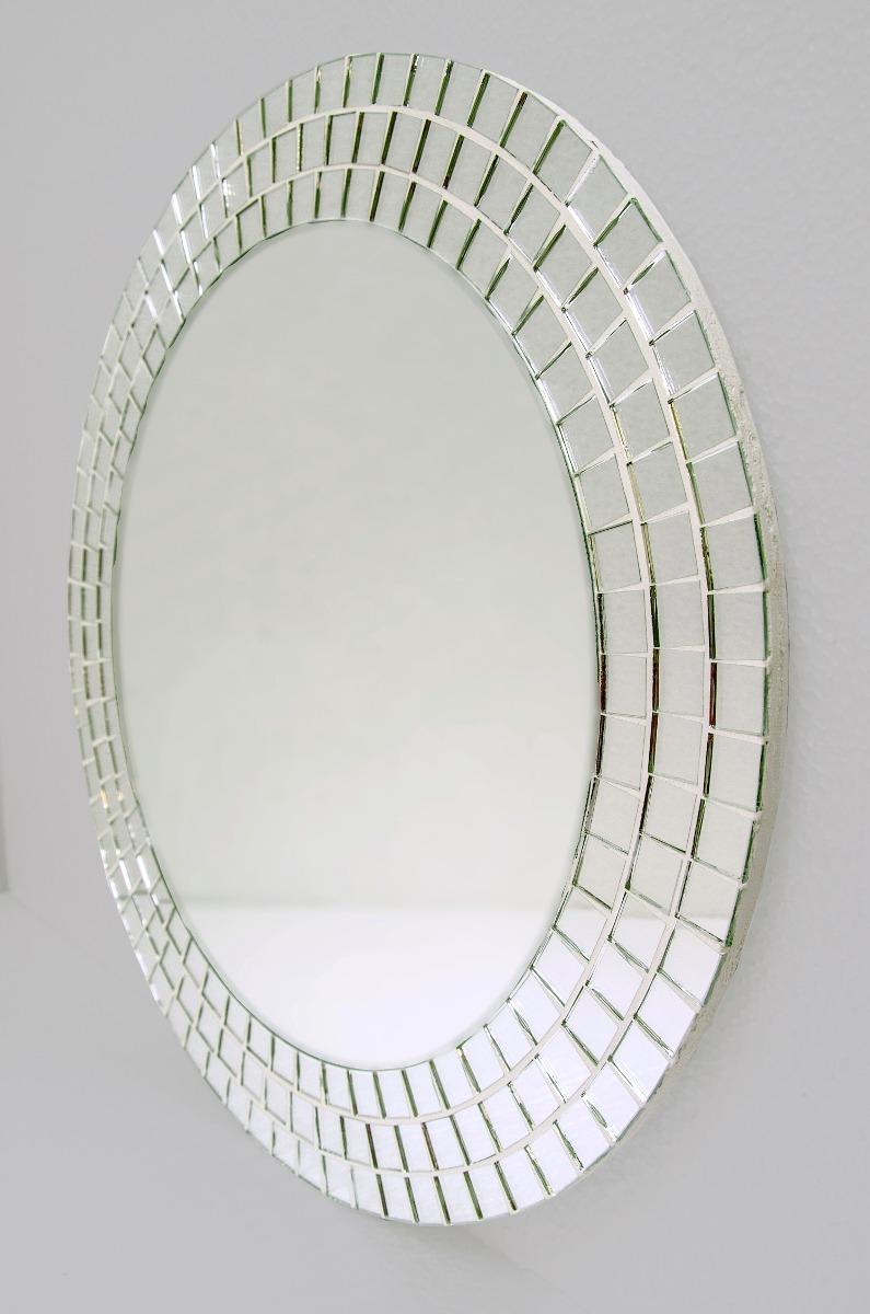 Espejo con venecitas redondo 60cm ba o living comedor for Bano con espejo redondo