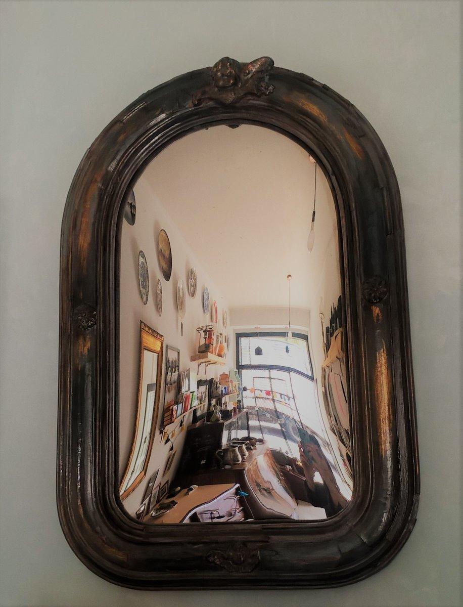 Espejo Convexo Marco Antiguo 60 X 40 Deco Unico Bruthos - $ 1.400,00 ...