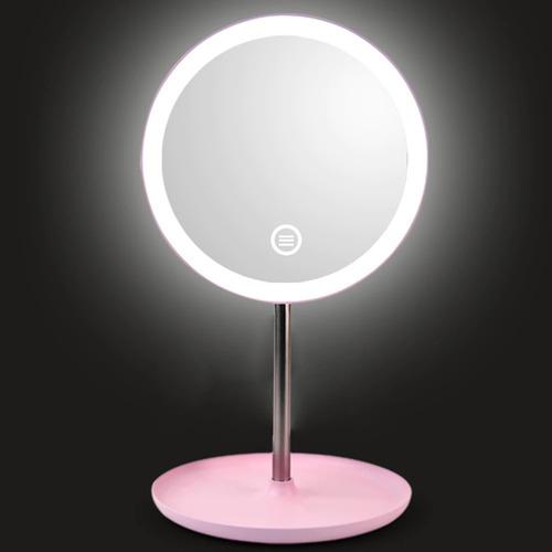 espejo cosmético profesional con luz led touch rotacion 3t
