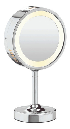espejo cromado redondo 1x/5x  be150txes
