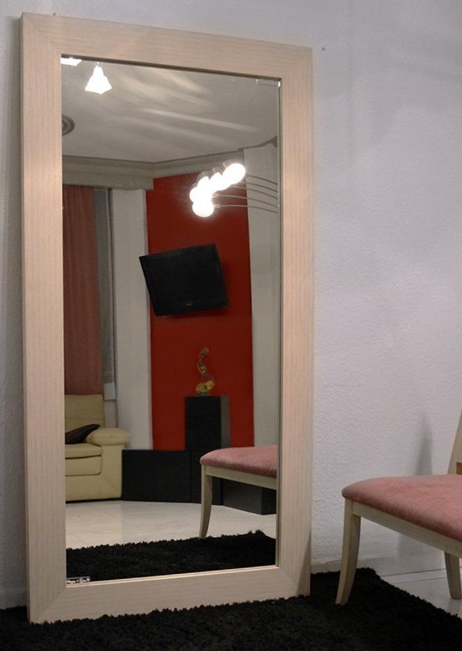 Espejo cuerpo completo madera de zebrano sala comedor for Espejos de cuerpo completo