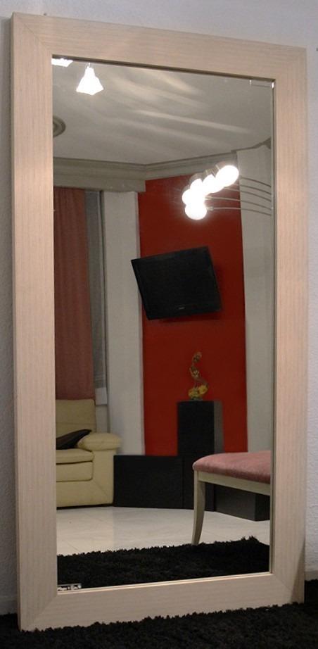 Espejo cuerpo completo madera de zebrano sala comedor for Precio de espejos de cuerpo completo