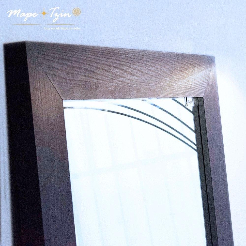 Espejo cuerpo completo marco de madera argenta decorativo for Espejo cuerpo completo
