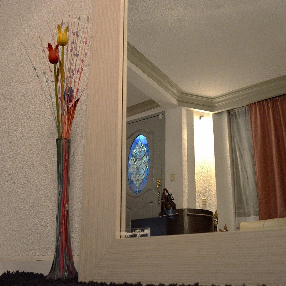 Espejo cuerpo completo marco de madera zebrano mape tzin for Espejos de cuerpo completo precio