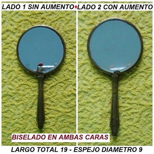 Espejo d mano biselado bronce doble cara a o 1930 749 for Espejo con borde biselado