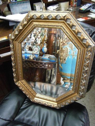 espejo  de 8 lados cristal biselado
