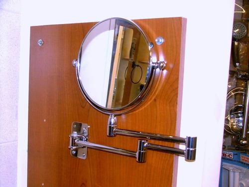 espejo de baño con aumento de pared con brazos extensibles