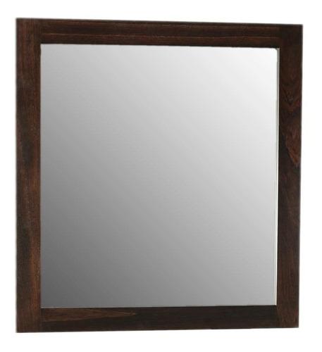 espejo de baño marco liso wengue 80x80