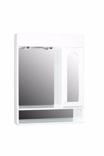espejo de baño minda 60x78 botiquín luces doble estante