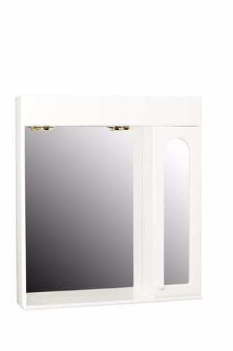 espejo de baño minda 70x78 botiquín puerta estante y luces
