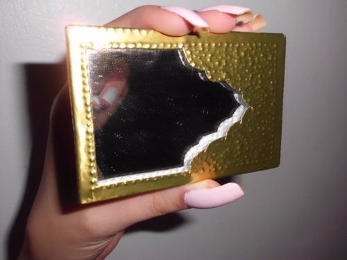 espejo de bolsillo con estuche para maquillaje