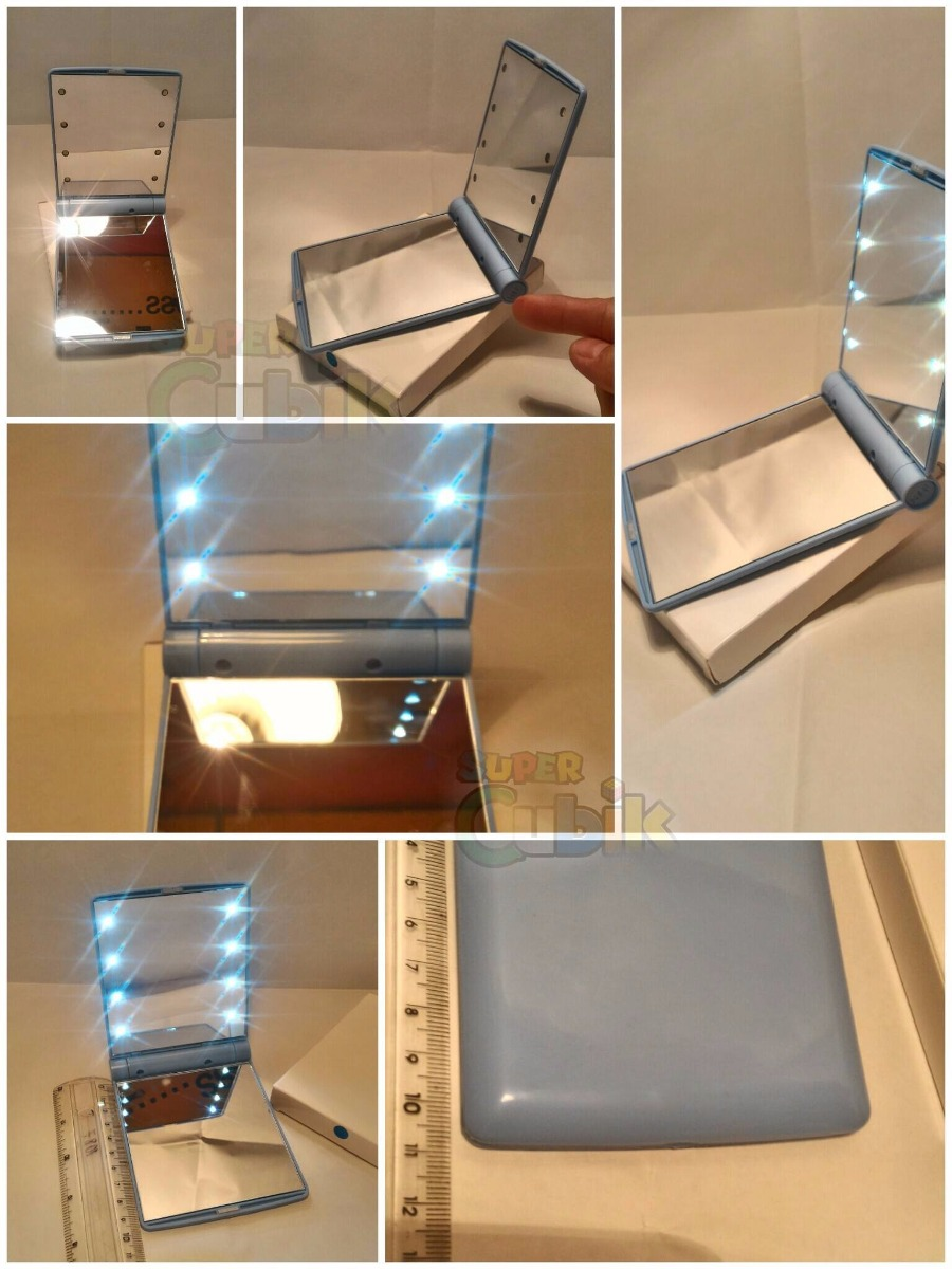 Espejo de bolsillo con luz led en mercado libre - Espejos de bolsillo ...