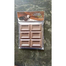 Espejo De Bolsillo En Forma De Chocolate Cuadrado Kawaiii
