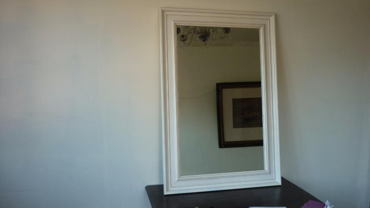 Espejo De Gran Tamaño Marco Blanco Decape 110 Cm Alto - $ 65.000 en ...