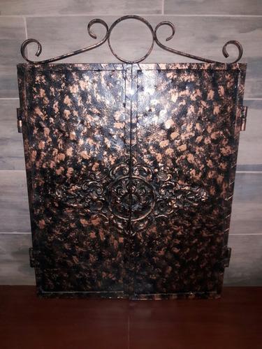 espejo de lujo estilo hierro forjado