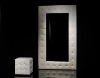 espejo de lujo marco tapizado diseo moderno variedad en