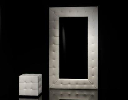 espejo  de lujo marco tapizado diseño moderno variedad en..