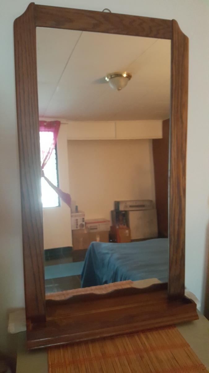 Espejo de madera grande y pesado 94 54 23 en for Espejos grandes de madera