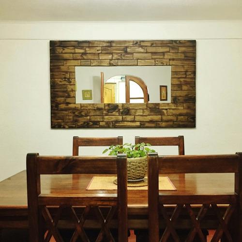 Espejo de madera rustico 140x80 aprox en for Espejo 140 x 80