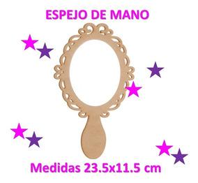 Espejo De Mano Mdf Invitacion Recuerdo Princesa Xv Años Niña