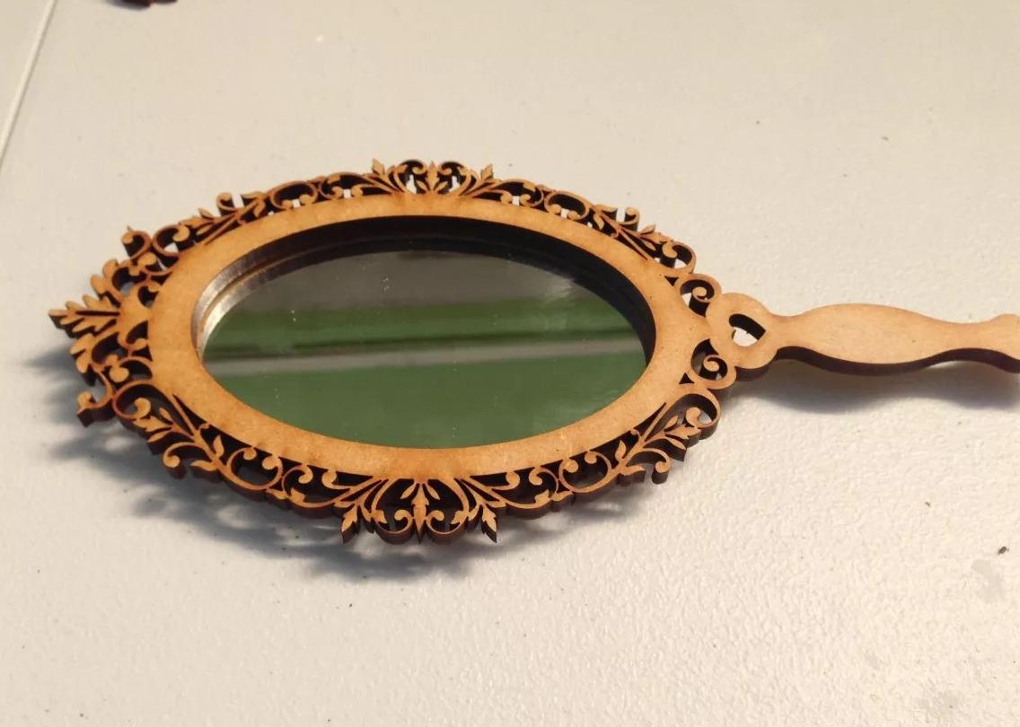 Espejo de mano vintage para recuerdo o regalo en for Espejo 5mm precio