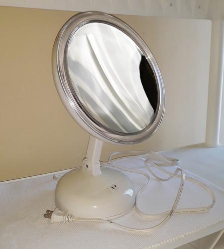 espejo de maquillaje con aumento y luz 14xg