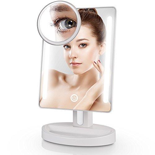 espejo de maquillaje iluminado miusco con