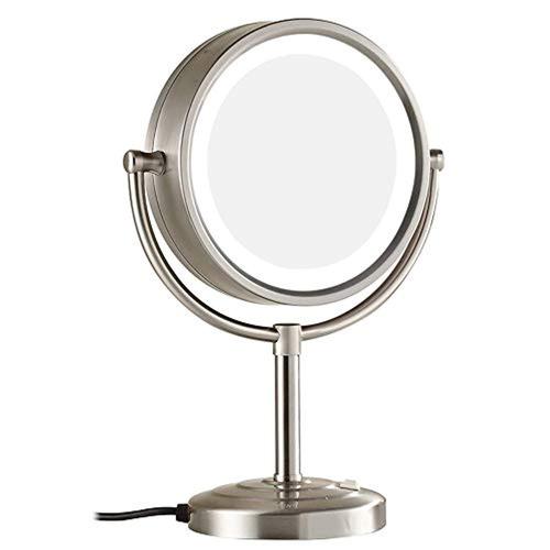 espejo de maquillaje led doble cara 8.5 pulgadas