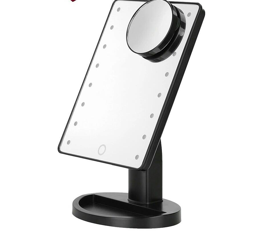 Espejo de maquillaje para tocador con pantalla 16 luces - Tocador con espejo y luces ...