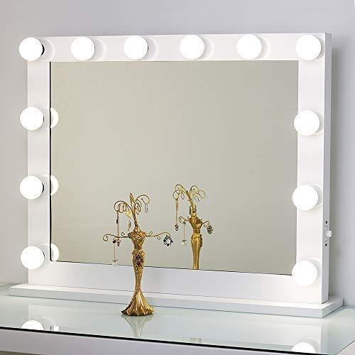 espejo de mesa tocador toyswill con luz, espejo de maquilla