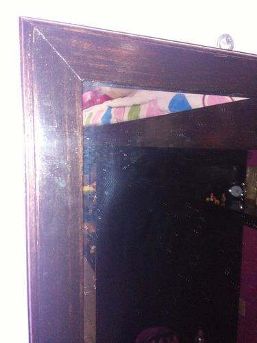 espejo de pared de cuerpo entero color chocolate