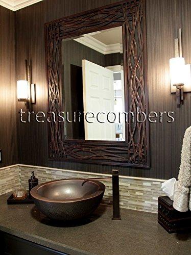 espejo de pared grande woven sea grass envio gratis
