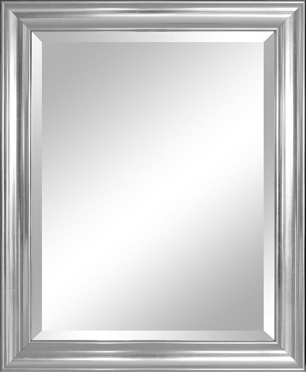espejo de pared moldura de plata 28x34pulg cristal bisel