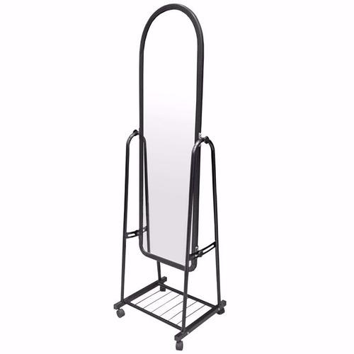 Espejo de pie blanco con ruedas zapatera metal rebatible for Espejo de pie blanco