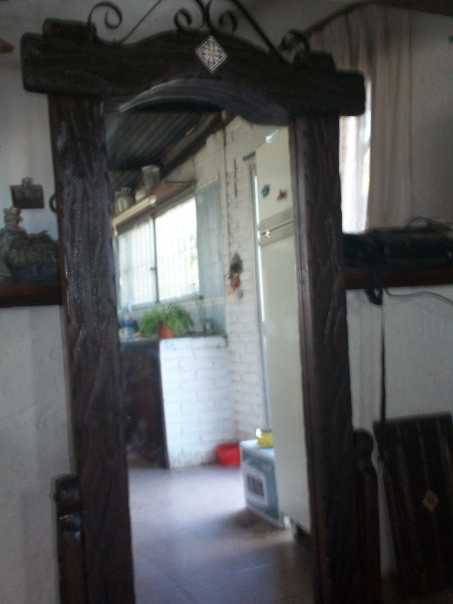 Espejo de pie rustico p dormitorio ba o x for Espejos de pie baratos